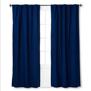 "Navy Blackout 84"" Curtains (2 panels)"